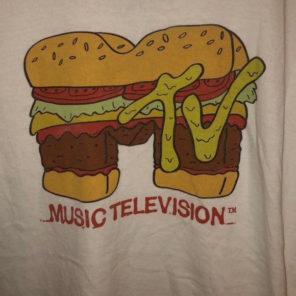 MTV Burger Logo OFFICIAL T-Shirt BRAND NEW